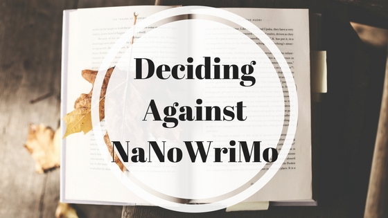 Deciding Against NaNoWriMo